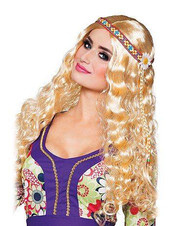 Accessoires - Hippie-pruik met haarband. - Kiabi