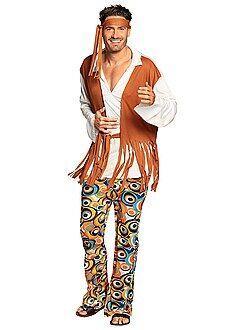 Heren verkleedkleding - Hippie verkleedkostuum