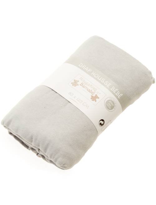 Hoeslaken voor een babybedje                                                                                         grijs Jongens babykleding