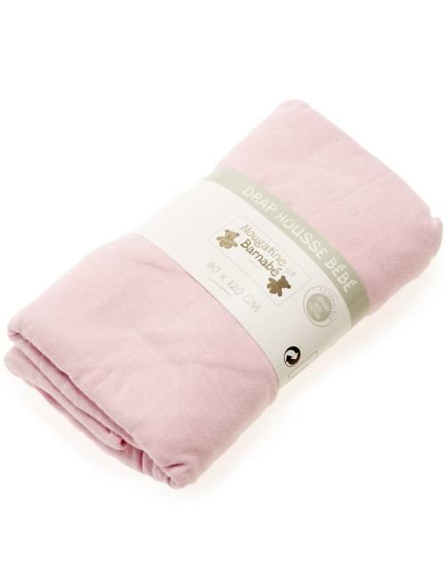 Hoeslaken voor een babybedje                                                                                         roze Meisjes babykleding