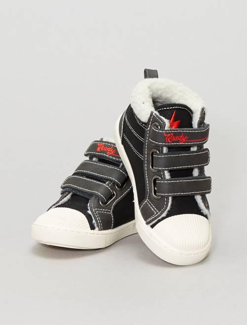 Hoge, gevoerde sneakers                             grijs Kinderkleding jongens
