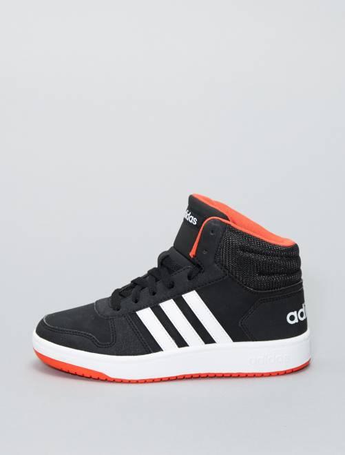 Hoge imitatieleren 'HOOPS 2.0 K'-sneakers van 'Adidas'                     ZWART Kinderkleding jongens