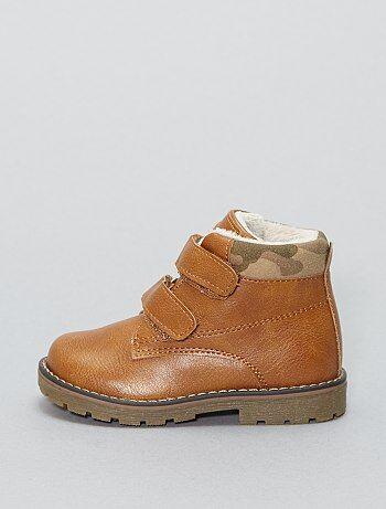 Jongen 0-36 maanden - Hoge imitatieleren schoenen - Kiabi