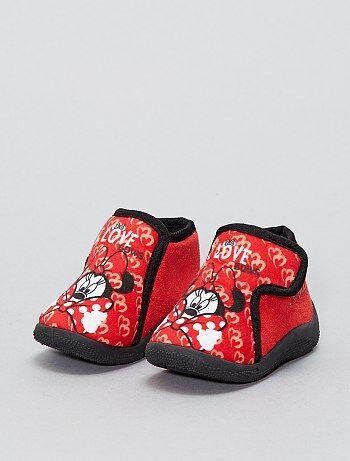 Hoge 'Minnie'-pantoffels met klittenband van 'Disney' - Kiabi