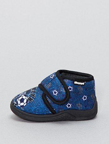 Hoge pantoffels met klittenband - Kiabi