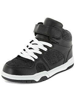 Kinderschoenen - Hoge sneakers met denimlook