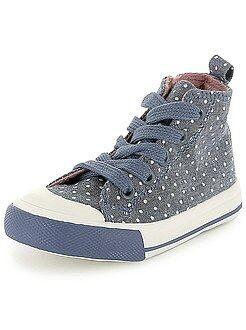 Meisjes schoenen - Hoge sneakers met stippen