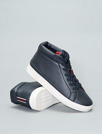 Hoge sneakers van synthetisch leer - Kiabi