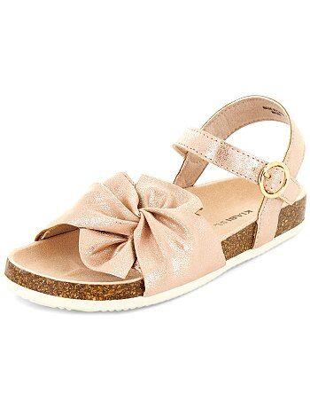 Imitatieleren sandalen met lovertjes - Kiabi