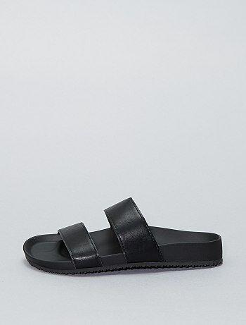 Imitatieleren sandalen - Kiabi