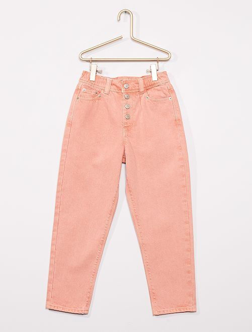 Jeans met hoge taille                                                                 ROSE