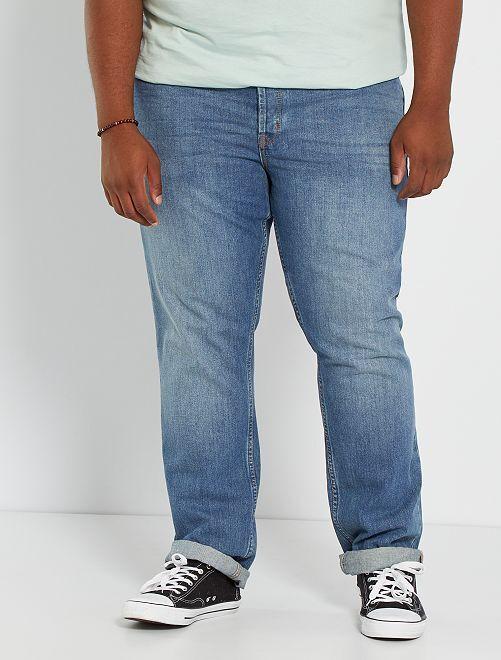 Jeans van 100% katoen                                         steen