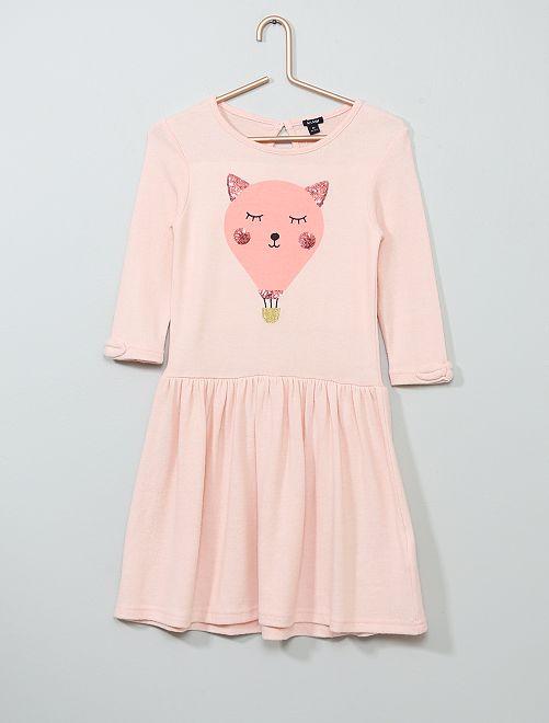Jurk met lovertjes van zacht tricot                                                                 ROSE Kinderkleding meisjes