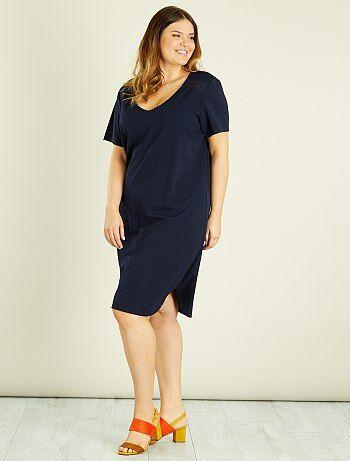 Dames Size+ - Kanten jurk met een V-hals - Kiabi