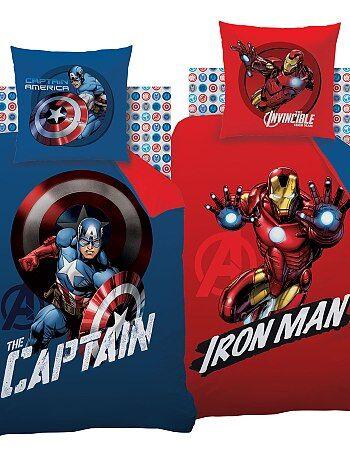 Katoenen dekbedovertrekset van 'Avengers', aan twee zijden bedrukt - Kiabi