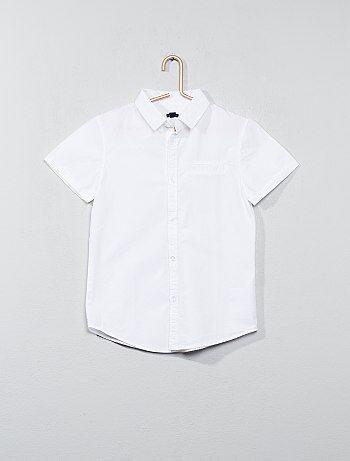 Katoenen overhemd met korte mouwen - Kiabi