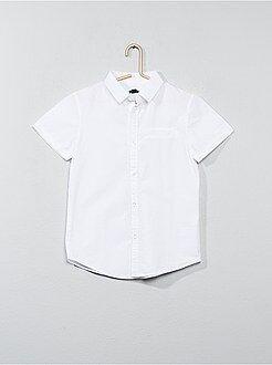 Kinder shirts - Katoenen overhemd met korte mouwen