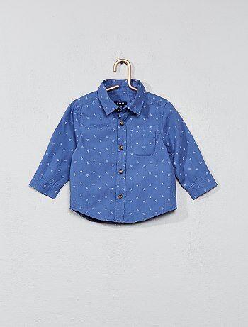 Jongen 0-36 maanden - Katoenen overhemd met print - Kiabi