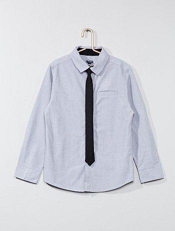 Katoenen overhemd met stropdas - Kiabi