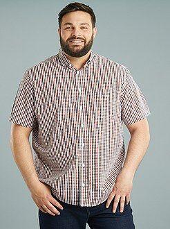 Overhemd - Katoenen overhemd recht model met print