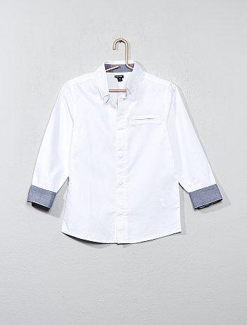 Katoenen overhemd van getextureerd katoen - Kiabi