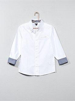 Katoenen overhemd van getextureerd katoen