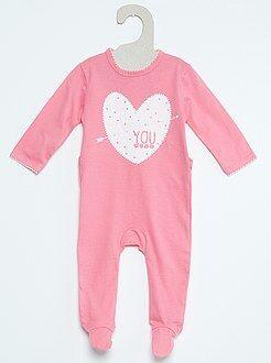 Katoenen pyjama met print