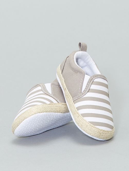 Katoenen schoentjes in espadrillestijl                                         BRUIN Schoenen