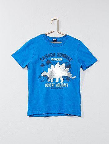 Katoenen T-shirt met omkeerbare lovertjes - Kiabi