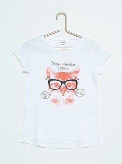 Katoenen T-shirt met print