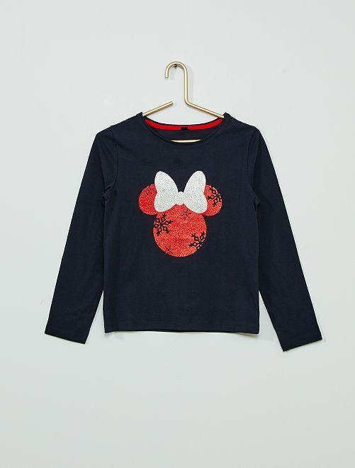 Kerstshirt 'Minnie'                                         BLAUW