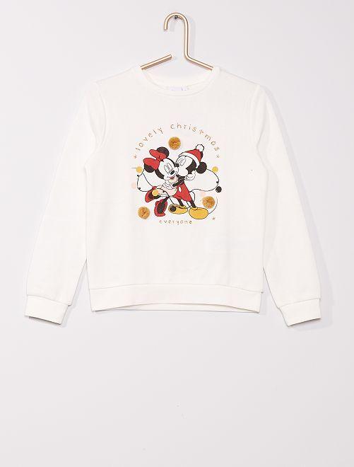 Kerstsweater 'Minnie en Mickey' 'Disney'                             WIT