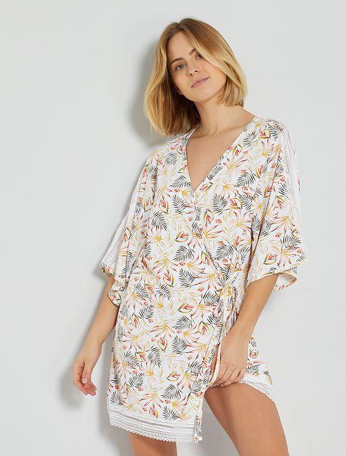 Kimono 'Envie de Lingerie'                             WIT