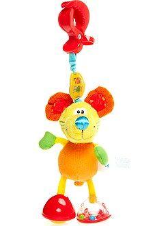 Knuffel, knuffeldoek - Kinderwagenhanger van een muis