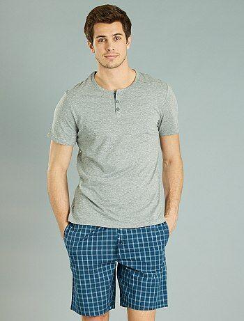 Korte, geruite pyjama - Kiabi
