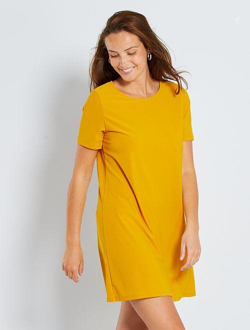 Korte jurk 'Ecodesign'                             brons geel