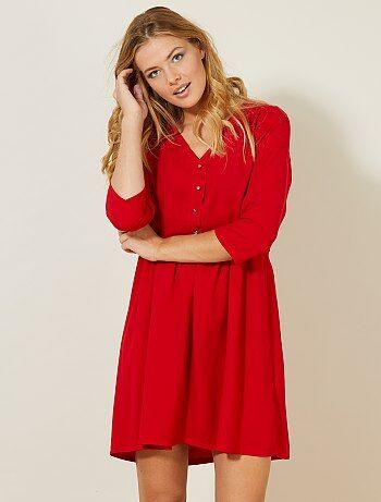 Korte jurk met knopen - Kiabi