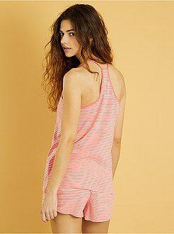 Korte pyjama met print - Kiabi