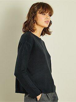 Trui - Korte trui van fijn tricot