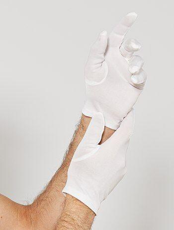 Korte witte handschoenen - Kiabi