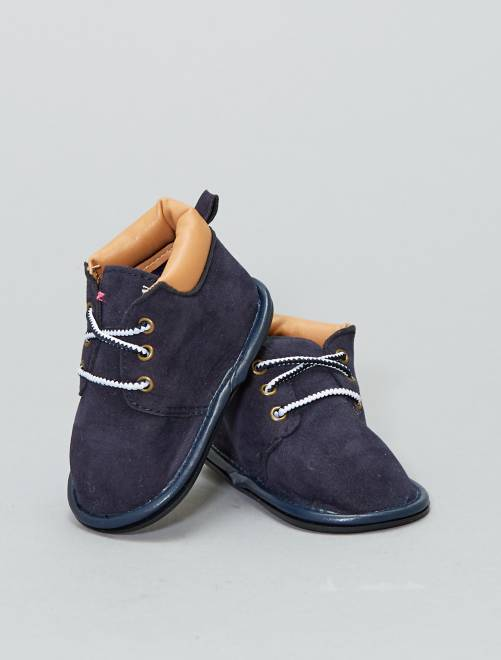 Laarsjes met veters                                         BLAUW Schoenen