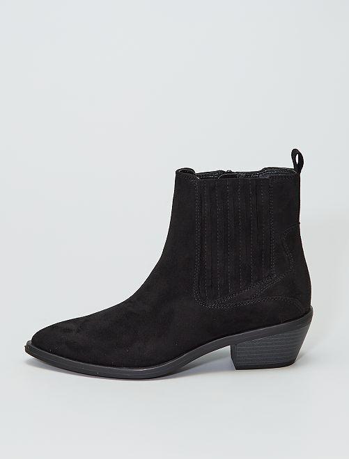 Laarzen van suèdine                     zwart