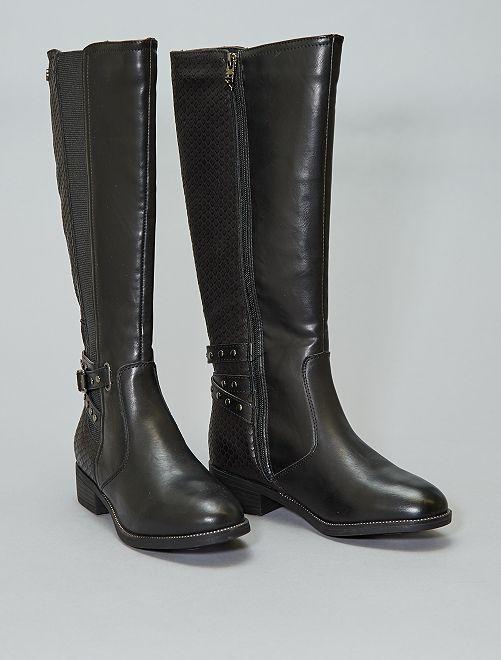 Laarzen van twee stoffen van 'Xti'                             zwart