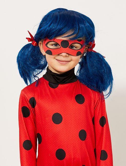 'Ladybug'-pruik van 'Miraculous'                             bleu/rouge Kinderen