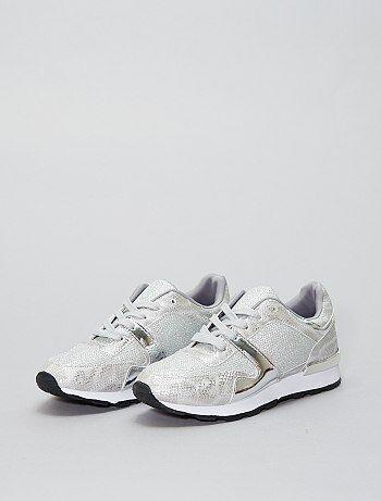 Lage glanzende sneakers - Kiabi