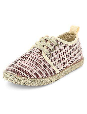 Lage sneakers in espadrille-stijl - Kiabi