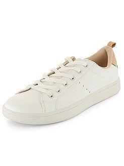 Damesschoenen - Lage sneakers met veters - Kiabi