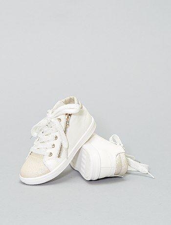 Lage sneakers van glanzend imitatieleer - Kiabi