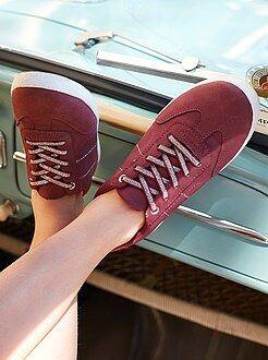 Lage sneakers van imitatieleer