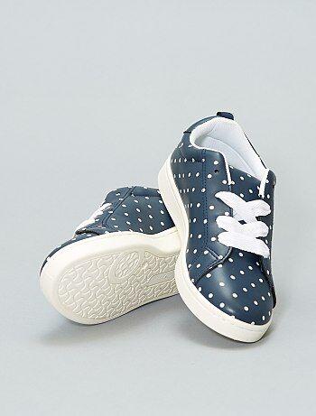 Lage sneakers van imitatieleer - Kiabi